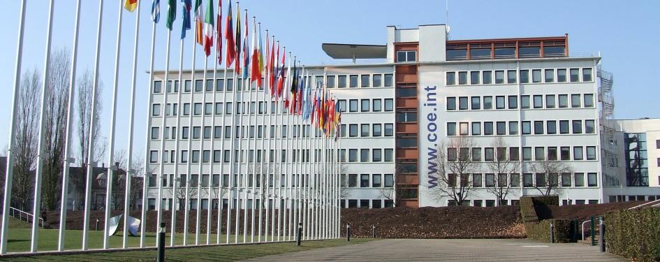 Parvis du Palais de l'Europe à Strasbourg