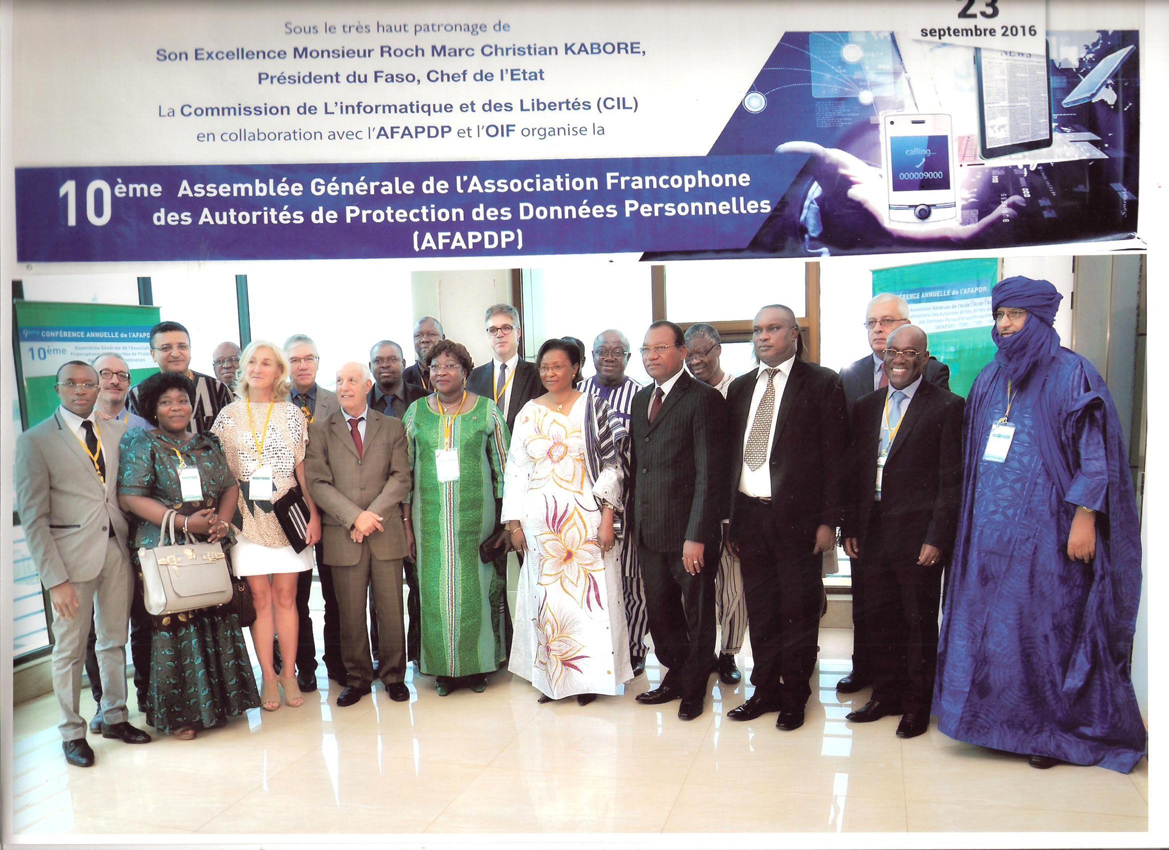 Communiqué de presse: compte rendu des réunions de l'AFAPDP à Ouagadougou
